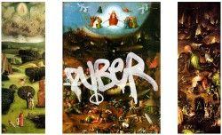 Echter Puber alias Arnulf Rainer von der Akademie der bildenden Künste in Wien angekauft. Mithilfe hochglänzendem Lack verleiht der Graffiti-Künstler dem Weltgerichtstriptychon von Hieronymus Bosch eine völlig neue Assoziation mit den herrschenden Mächten der wasserlöslichen Dispersionsfarben.
