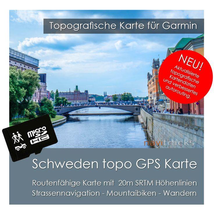 Routenfähige Navigationskarte für Garmin Geräte.  Inklusive Installations-Karten für Windows & Mac Die GPS Karte wird auf einer 4 GB Micro SD Karte mit SD Karten-Adapter geliefert....