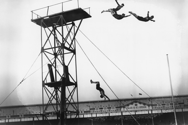 Diving at the White City Stadium. London 1908