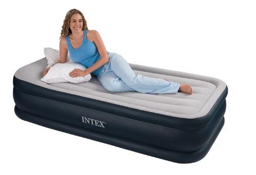 Luftbett Deluxe Pillow grey-blue