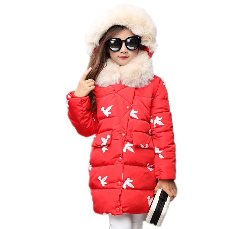 >> Click to Buy << Kids Winter Jackets For Girls Cotton Coats 2017 New Thicken Warm Fur Hooded Winter Parkas Long Snowsuits Children Outerwear  #Affiliate