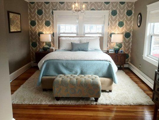 rug under bed hardwood floor. Adding Pattern: Renewing The Look Of A Painted Room With One Wallpapered Wall Rug Under Bed Hardwood Floor Pinterest