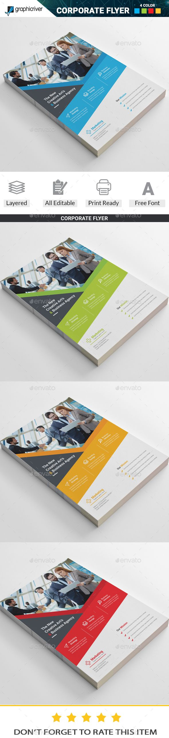 Corporate  Flyer Template Vector EPS, AI Illustrator