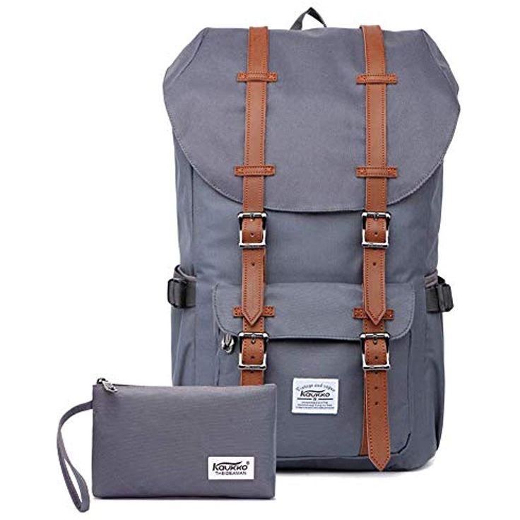 KAUKKO Rucksack Damen Herren Studenten 17 Zoll Backpack für 15 Notebook Lässig…