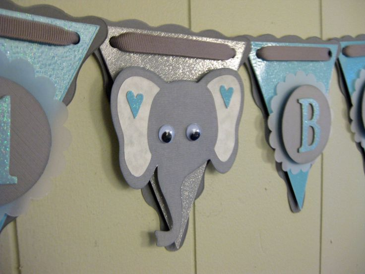 IT'S A BOY Baby Shower Banner, Elephant Baby Shower, Circus Baby Shower, Safari Baby Shower, Zoo Baby Shower, Baby Photo Prop. $32.00, via Etsy.