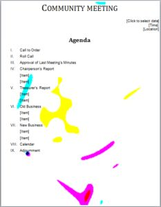 Informal Meeting Agenda Download At HttpWwwTemplateinnCom