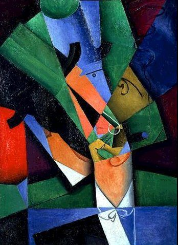 "Juan Gris ""El Fumador"" 1913 (Cubismo Sintético)"