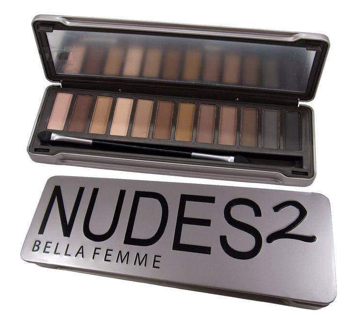 estojo de sombra fosca nudes 2 bella femme = naked