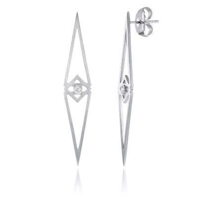 Lucidus Earrings in Sterling Silver with Diamonds - GITTE SOEE Jewellery - Shop Online www.gittesoee.com