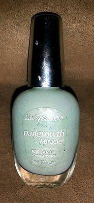 Sally Hansen nail growth tiffany blue fingernail polish pastel light teal Weddin