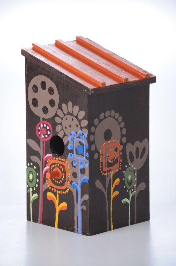 hand painted birdhouse by jenniferlynne5 on Etsy, $30.00
