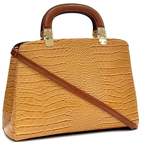 New Trending Briefcases amp; Laptop Bags: Dasein Faux Croco Leather Hinge Handle Laptop, Tablet, iPad Bag Satchel Briefcase Shoulder Handbag Purse with Removable Shoulder Strap - Tan. Dasein Faux Croco Leather Hinge Handle Laptop, Tablet, iPad Bag Satchel Briefcase Shoulder Handbag Purse with Removable Shoulder Strap – Tan  Special Offer: $29.99  433 Reviews *Little leather smell is normal. Open it and put it in a ventilated environment for few days,