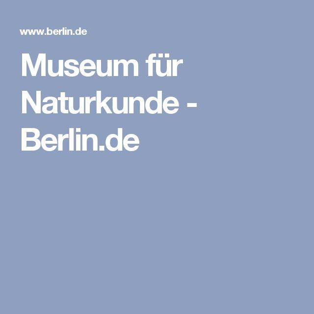 Museum für Naturkunde - Berlin.de