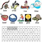 long ow phonics lesson plans, worksheets, activities and other teaching resources