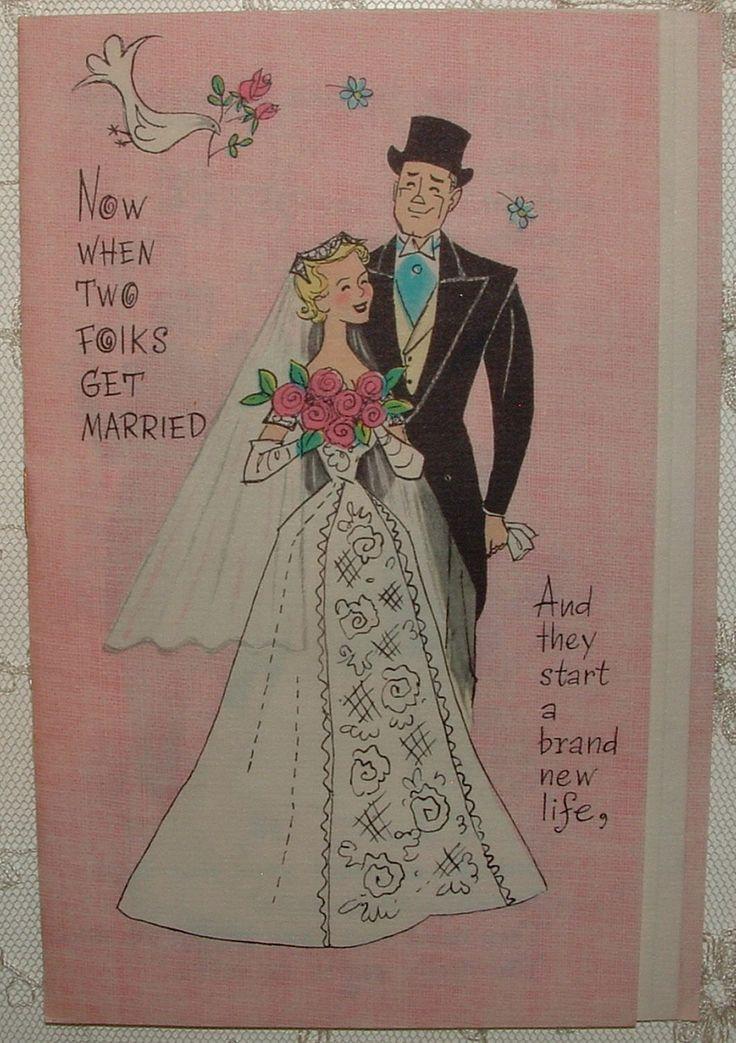 Multi-page - Bride & Groom's Vows - 1950's Vintage HALLMARK Greeting Card | eBay