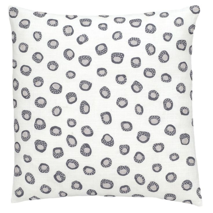 Pine Cone Hill Thumbprint Embroidered Decorative Pillow - PC39-PIL20