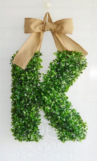 Artificial Boxwood topiary letters - Various sizes available