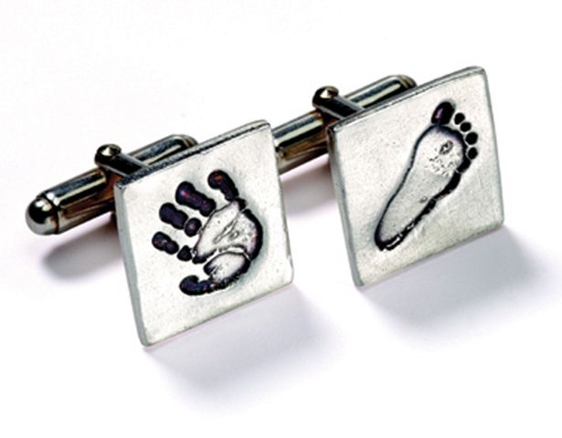 Little kicker and high five cufflinks