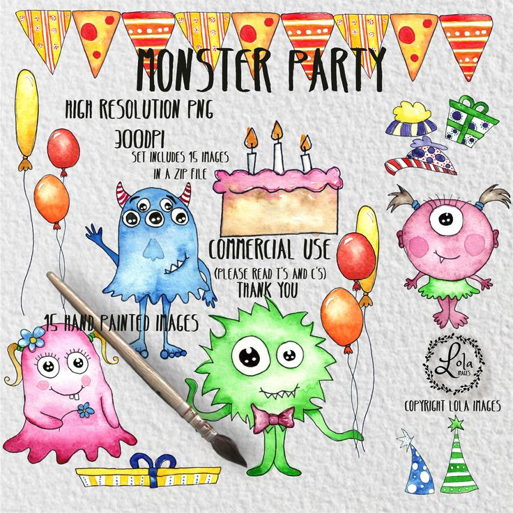 Excited to share the latest addition to my #etsy shop: Monster Party Digital Clipart | Crazy Colorful Birthday Monsters | Hand Painted Watercolor | Personal & Commercial Use | PNG Images https://etsy.me/2E6pNif #art #drawing #birthday #watercolor #clipart #handpainted
