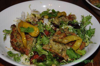 Carré de ricotta et sa salade frisée