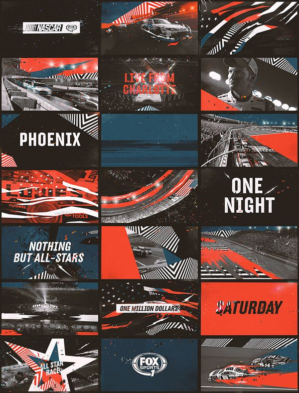 Styleframes and storyboarding for motion graphics Nascar on Behance