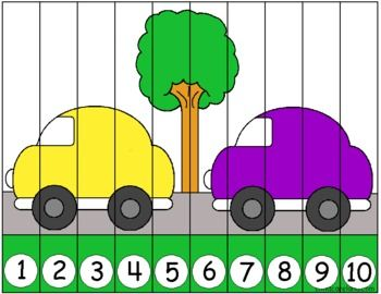 This download is for a car number sequence puzzle.  Print on cardstock paper ... laminate ... and cut along the lines.  Children put the number strips in order of 1-10 to assemble the puzzle.  l have included both black and white as well as color puzzles.If you download and like my material please rate and follow me to get all of the latest updates and freebies!!