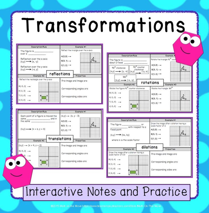 Maths Transformations Enlargement Worksheet - ks4 maths transformation ...