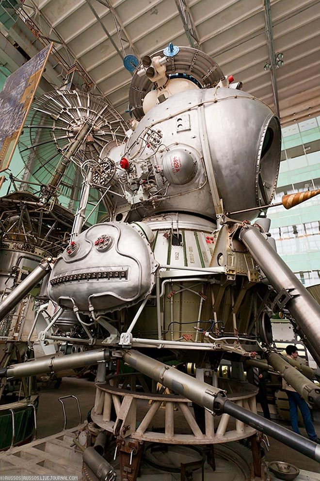 Soviet moon lander built to beat Americans to the manned landing. Abandoned.