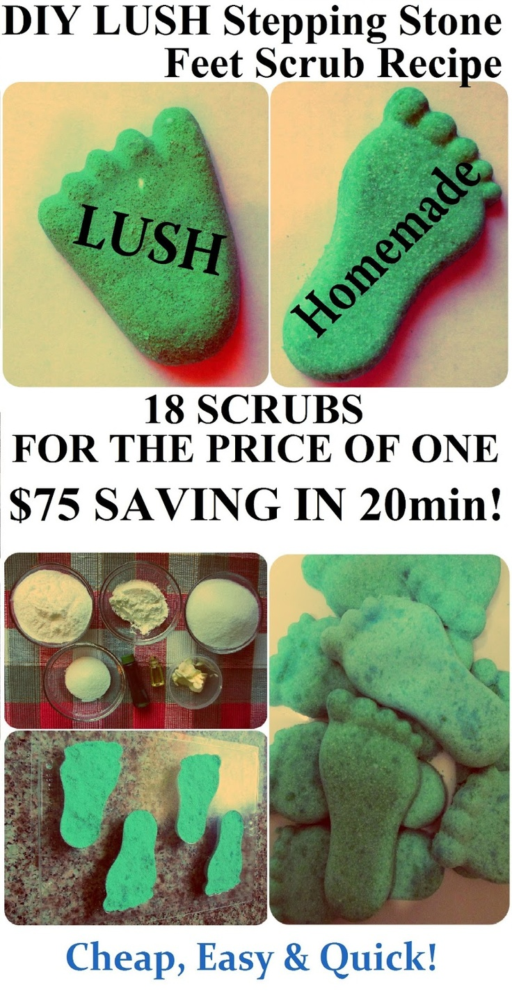 How to Make LUSH Stepping Stone Feet Scrub, DIY Recipe (Homemade Gift Idea for St.Valentine's Day, Birthday, Mother's Day or Christmas) More LUSH DIYs on www.MariaSself.com