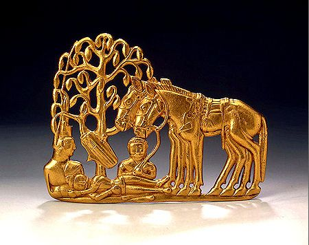 Scythian Gold Belt Plaque Gold, 5th. 4th century BC, Russia