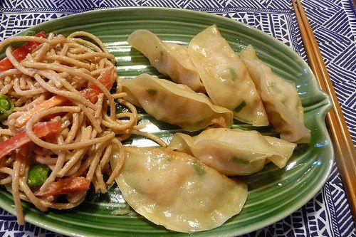 Shrimp Scallion Dumplings. Can't wait to make this.