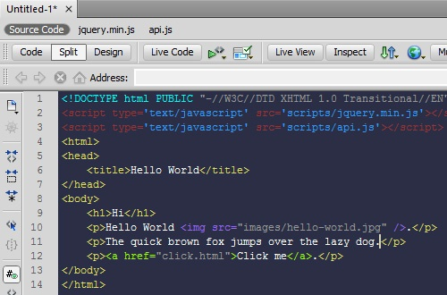 How to Change Adobe Dreamweaver Code View Theme