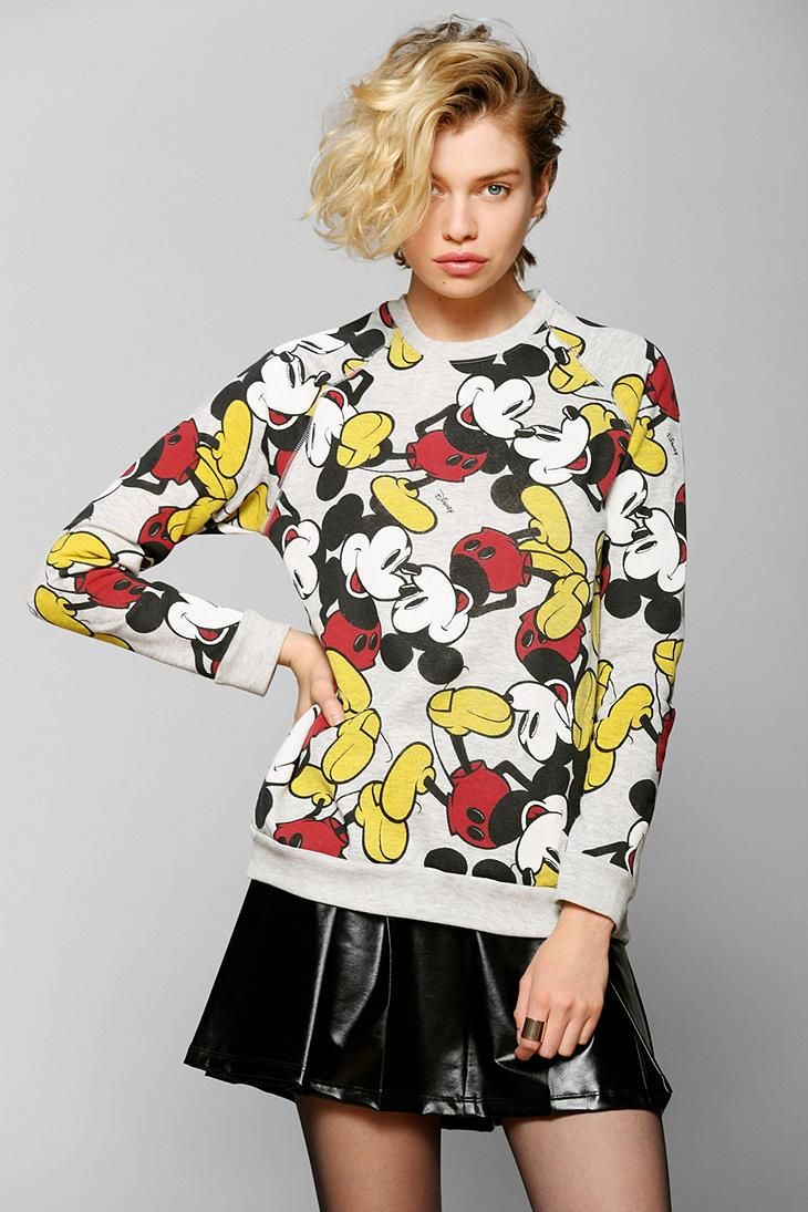 Junk Food Mickey Mouse Pullover Sweatshirt #urbanoutfitters