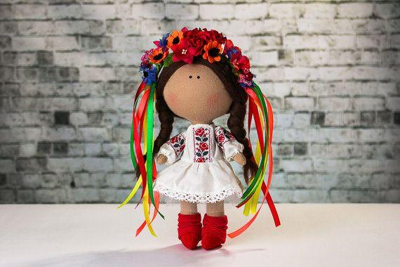 Doll Mia. Tilda doll. Textile doll. Doll in national от OwlsUa