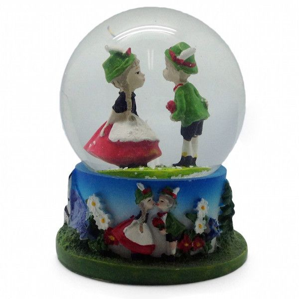 German Wedding Gift Ideas: German Gift Snow Globe: German Couple