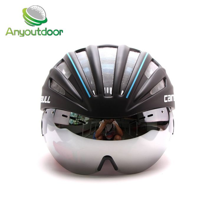 2016 New Cycling helmet with glasses MTB adults bicycle helmet Aero Fietshelm Heren Racefiets Helm Goggles ciclismo