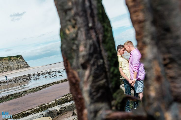 Engagement photo shoot at St Audrie's Bay, Devon