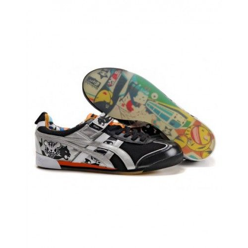 $87.43 for 2012 Asics Onitsuka Tiger by ASICS MEXICO TOKIDOKI LO Womens  Shoes Black Sliver Orange