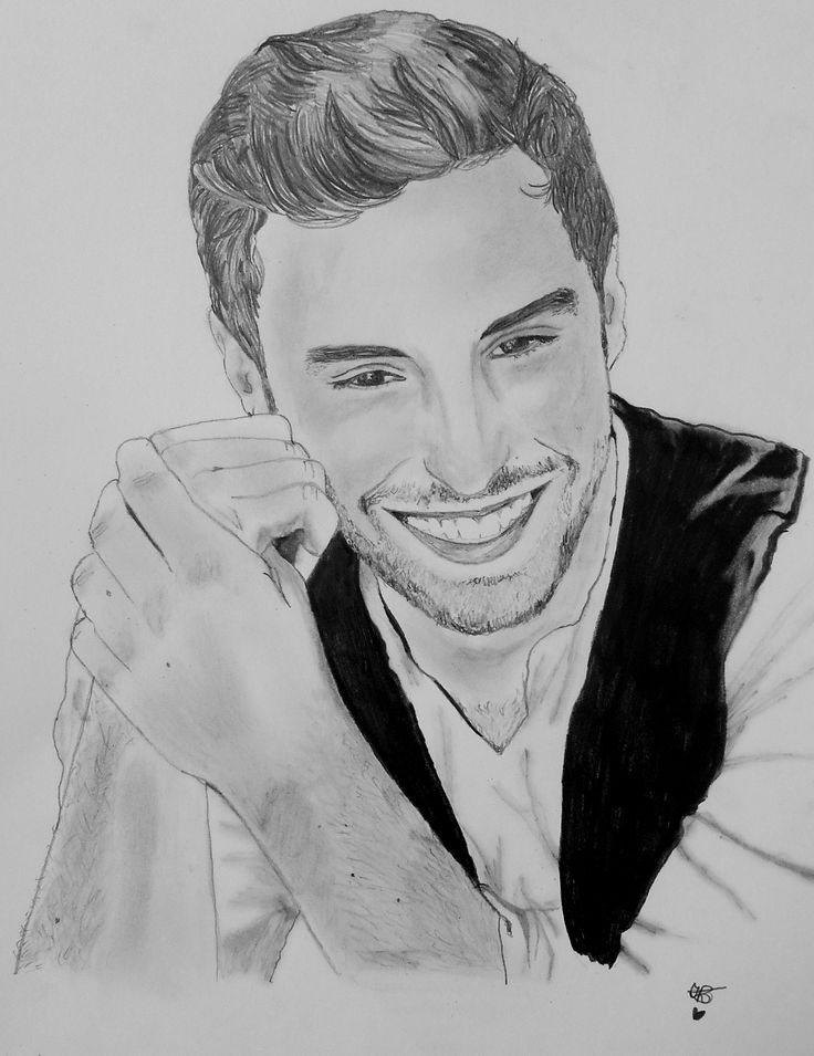 Portrait: Måns Zelmerlöw   Approx. time: 23 hours  Drawn with 4 different pencils (1H, HB, 5B & 7B)