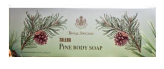 Victoria R.S. Tallba Pine Swedish Body Soap - Boxed Set of 3 - 100 gr. Bars by R.S. Tallba. $24.04. Includes pine needle oil, glycerin and other moisturizing ingredients. Fresh scents of musk, amber, mint, moss and pine. Gift boxed set of 3 bars. Made in Sweden. Vegetable soap. Tallba is a traditional product designed to cleanse and nurture your skin. The first Tallba soap saw the light of day already in 1935. The design as well as the product has been created with ...