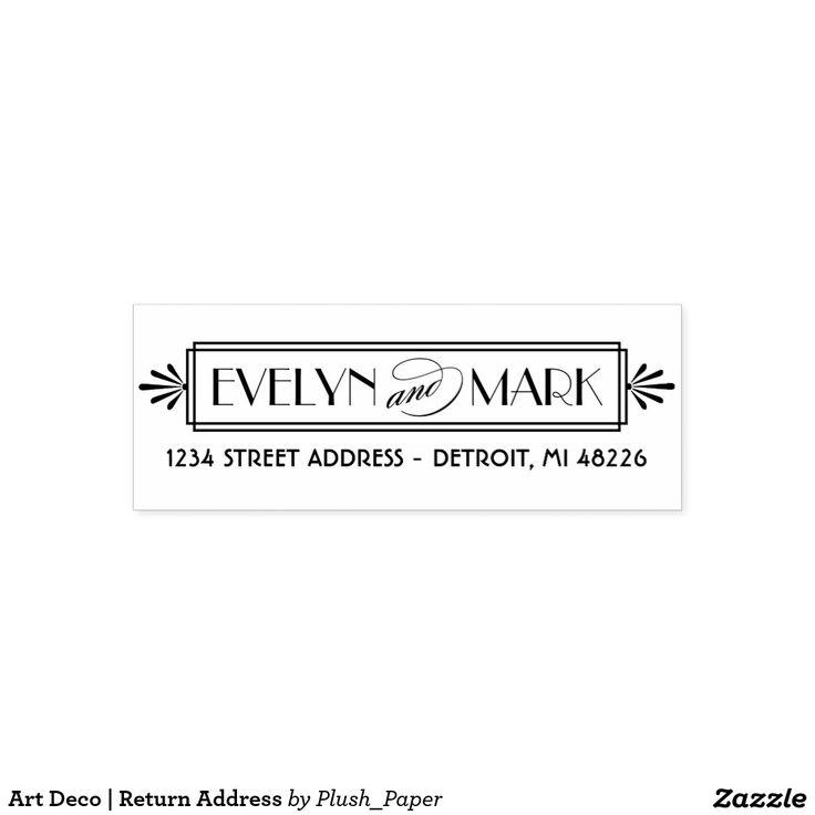 Art Deco | Return Address