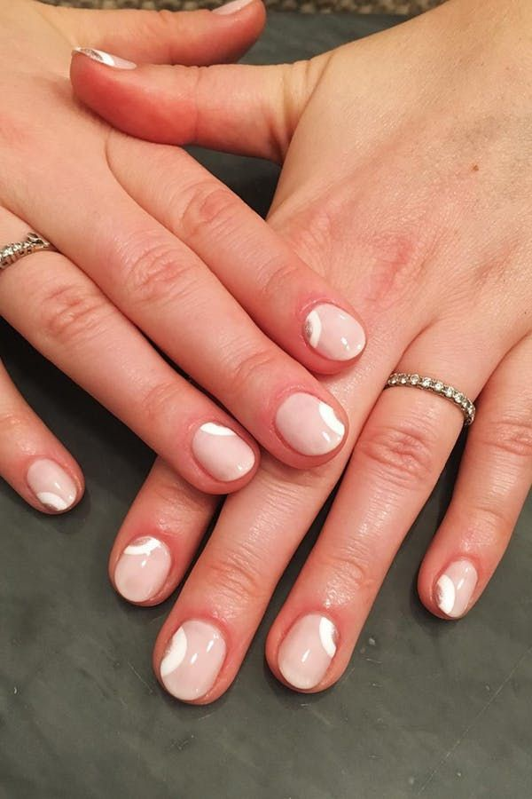 11 Nail Art Ideas To Make Short Stubby Nails Look Longer Minimal Nails Art Minimal Nails Short Nails Art