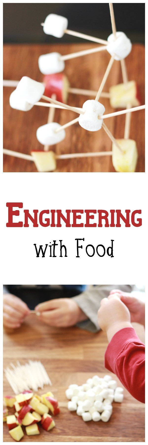 Engineering with Food: Simple STEM for Preschoolers #NutritionCrafts