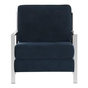Safavieh - Walden Modern Accent Chair, Navy/Velvet - Armchairs And Accent Chairs