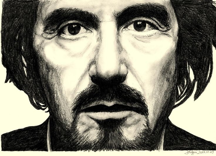 al pacino pencil drawing portrait
