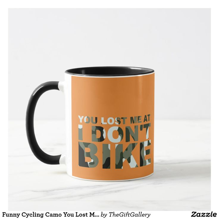 Funny Cycling Camo You Lost Me Don't Bike Cyclist Mug. You Lost Me at I Don't Bike. Funny Cycling Mug. Camo colors. #bike #biking #bicycle #cycle #cycling #sports #exercise #fitness #gym #camo #mugs #orange #gifts #giftideas #giftguide #quotes #funny #humor #christmasgifts #birthdaygifts #giftforhim #presents #funnyquotes #boys #men #woman #zazzle #ad #kitchenideas #office #unique #retro #green #white #great #best #mensguides #memes #funnymemes #guys #birthday #redbubble Ad Funny Cycling Camo You Lost Me Don't Bike Cyclist Mug. You Lost Me at I Don't Bike. Funny Cycling Mug. Camo colors. <a class=