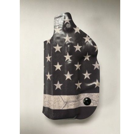 Gearcraft - Smith & Wesson M&P Shield 9/40 IWB Concealed Carry Holster (B&W Flag) - Holsters