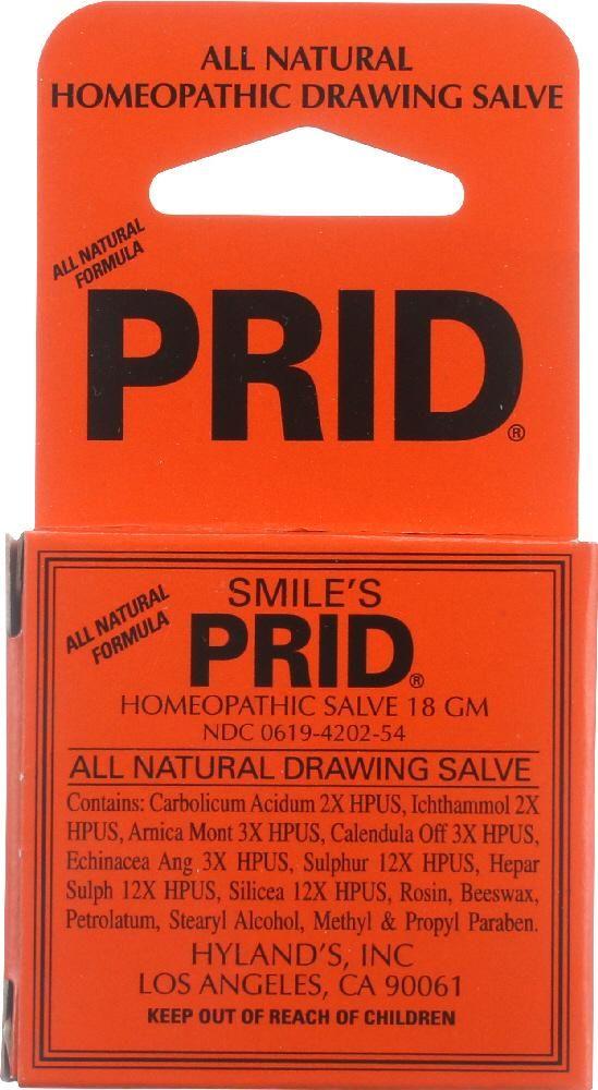 HYLAND'S: Smile's PRID Drawing Salve, 18 grams