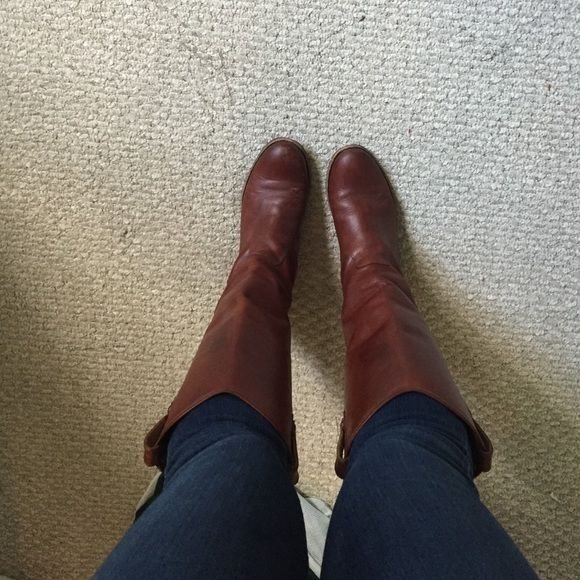 Frye Melissa boots Cognac leather Frye Melissa boots. A little worn but in good condition, a few scratches at the tip of the foot. Great for fall paired with jeans and a cute sweater! Frye Shoes
