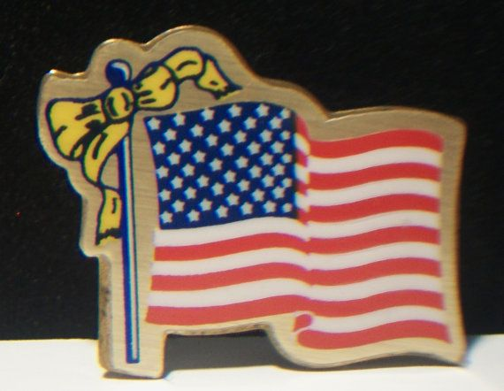 Vintage American Flag Lapel Pin Union Made USA by ALEXLITTLETHINGS